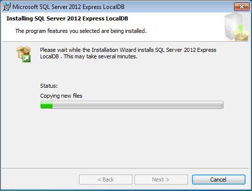 Installing SQL Server 2012 Express LocalDB