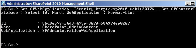 Renaming the SharePoint Admin Content Database to Follow SQL Server