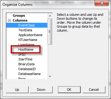 "I use ""Organize Columns"" to move ""HostName"" to be up like below"