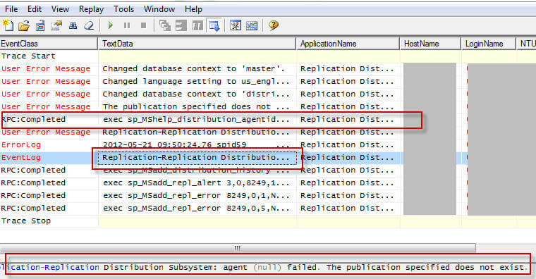Tracking Down SQL Server Replication Distribution Subsystem Agent
