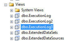 Execution Log Views