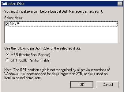 The most common partition style for disks used in SQL Server instances is MBR