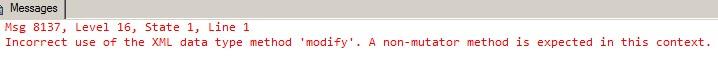 Modify() Limitations