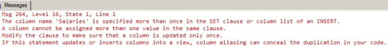 Modify() also cannot be used more than once within the same UPDATE statement