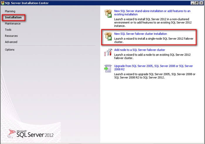 Install SQL Server 2012 on a Multi-Subnet Failover Cluster