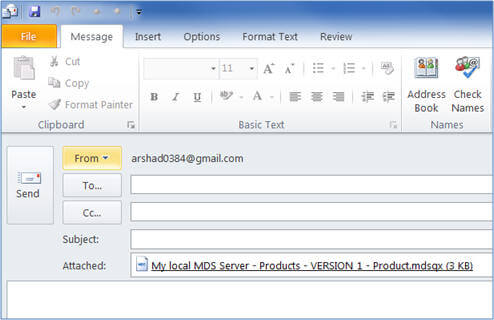 Not only you can save the MDS query for reuse for yourself but you can also share the query with others by sending them these queries files as attachments in mail