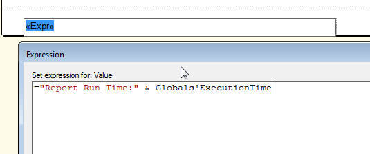 Add Report Run Time with the execution time for the SSRS report