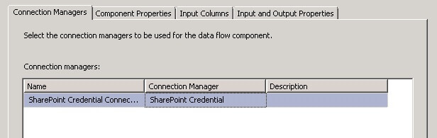 To configure the Sharepoint List Destination right click and edit