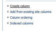 click create column