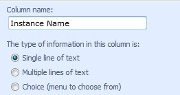 Add Instance Name