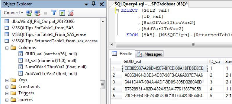 Using SAS ACCESS and PROC SQL to Save SAS Data in SQL Server
