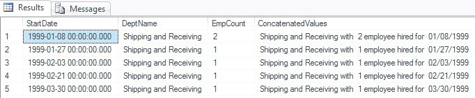 SQL Server 2012 Multiple Data Type Concatenation with the CONCAT() function