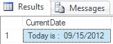 Concatenating a string and date in SQL Server