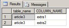 compare extra columns