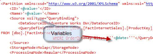Dynamic XMLA code