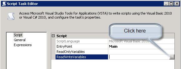 Script tasks editor