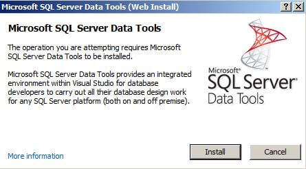 Download the Microsoft SQL Server Data Tools