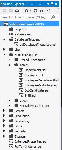 SSDT Solution Explorer