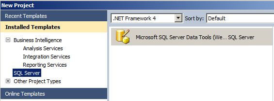 Option in Visual Studio for the SQL Server Data Tools