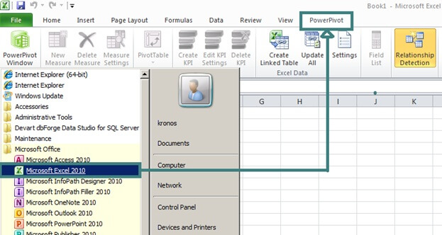 PowerPivot integration in Excel
