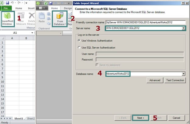Table Import Wizard in PowerPivot