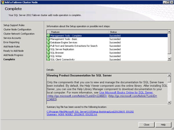 SQL Server 2012 Cluster with TempDB on Local Disk