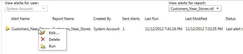 Manage Data Alert