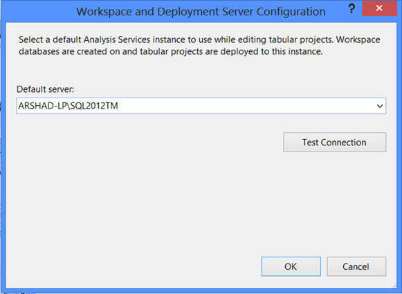 SQL Server Data Tool retrieves the data from the workspace database