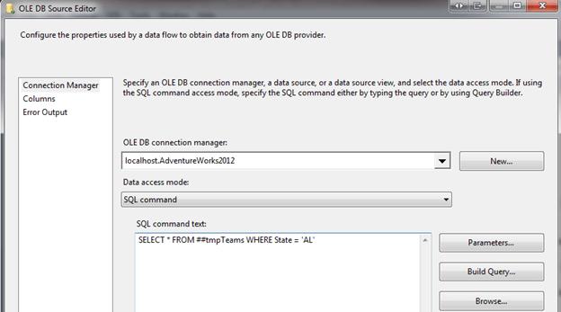 SQL command text