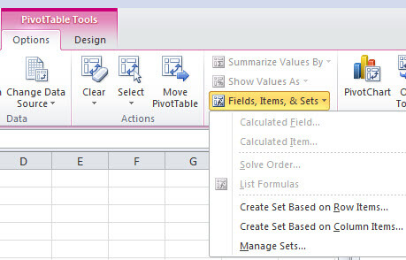 Add SSAS Named Sets in Excel