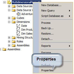 SQL Server Analysis Services Project Properties