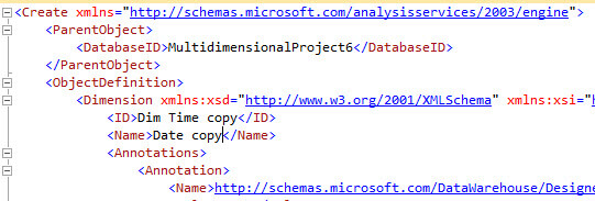 Update the dimension name in the XLMA code