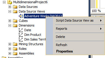 SQL Server Analysis Services Data Source Views properties