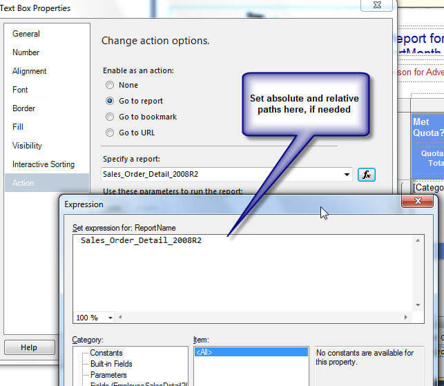 SQL Server Reporting Services 2012 Drilldown Features