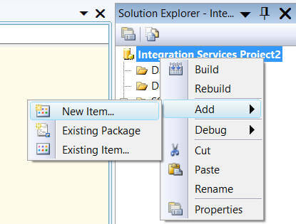 Using the SSIS package in other projects... Reusability
