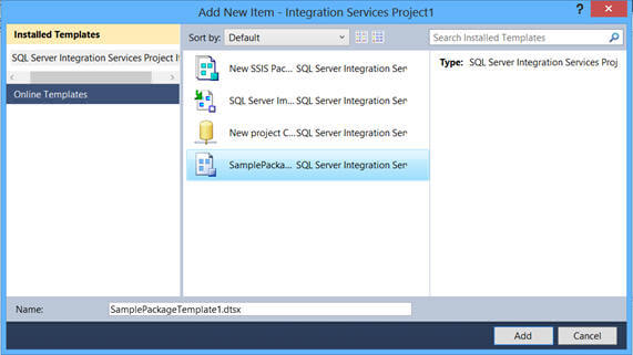 using SQL Server 2012, you need to deploy the template to a different location