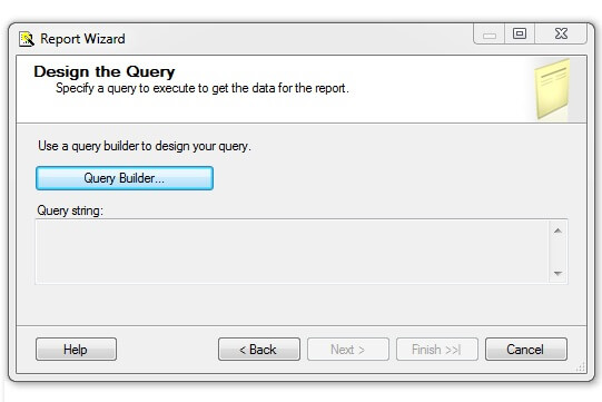 Visual Studio Report Wizard Query Builder