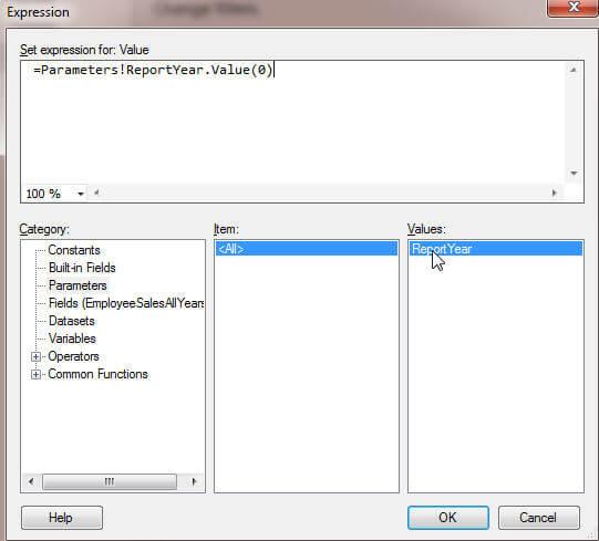 Filter Parameter Screen 1