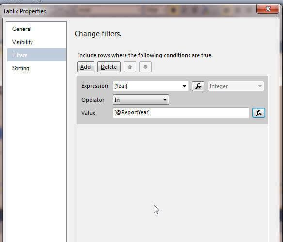 Filter Parameter Screen 2