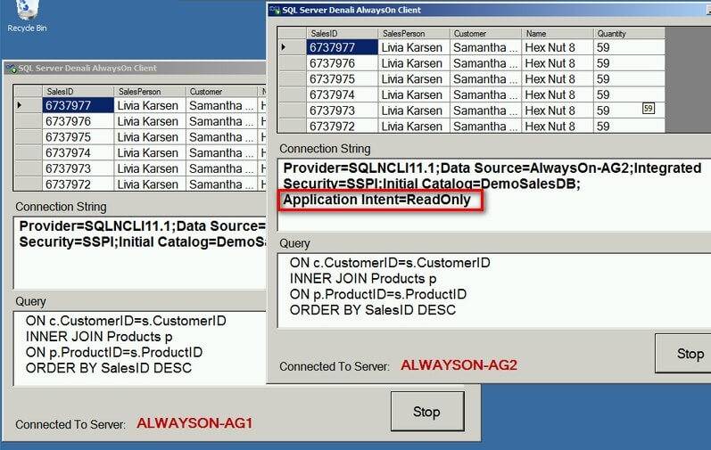Verify applications connecting to readable secondaries in SQL Server 2012 AlwaysOn Availability Groups