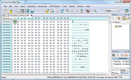 Examining a Corrupt Data File