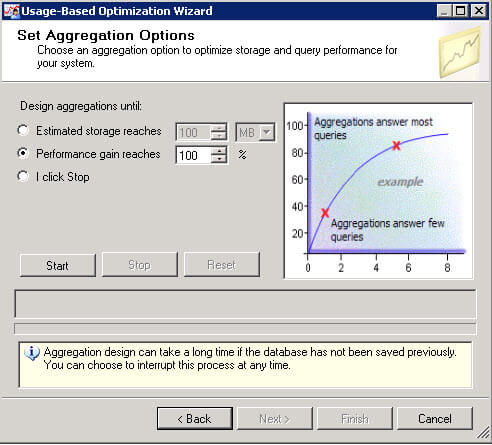 limit the number of aggregations according to a specified number of MegaBytes