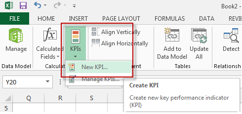 Create KPI in PowerPivot