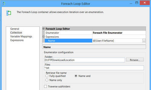 use ForEach Loop Container with ForEach File Enumerator and process all the data files