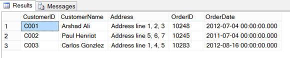 querying CustomerID and CustomerName