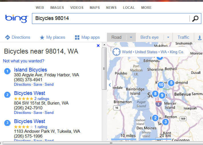 Bing with bikes