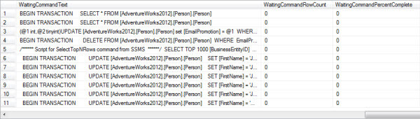 processes that are causing the blocking on SQL Server instance