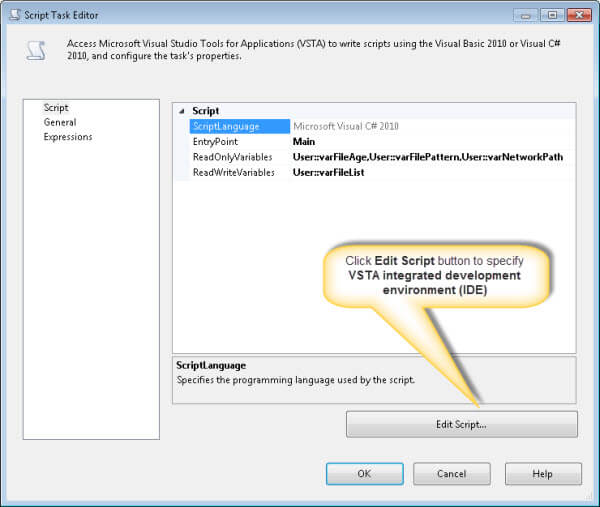 SQL Server Integration Services package to delete files from