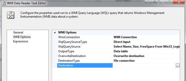 Click the WMI Options tab
