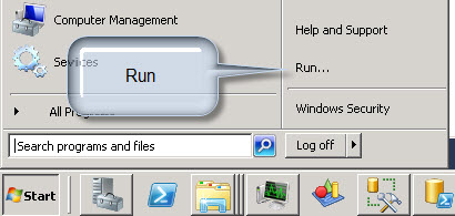 Windows Menu Run command